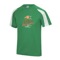 T-shirt sport contrasté adulte