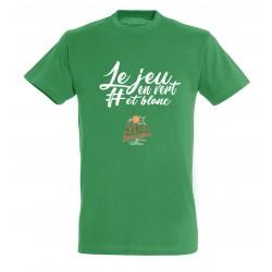 T-shirt Le jeu en vert adulte